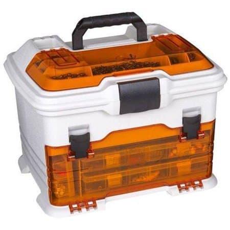 Flambeau Outdoors T4 Multi-Loader Tackle Box, Orange / White Walmart # 000955634