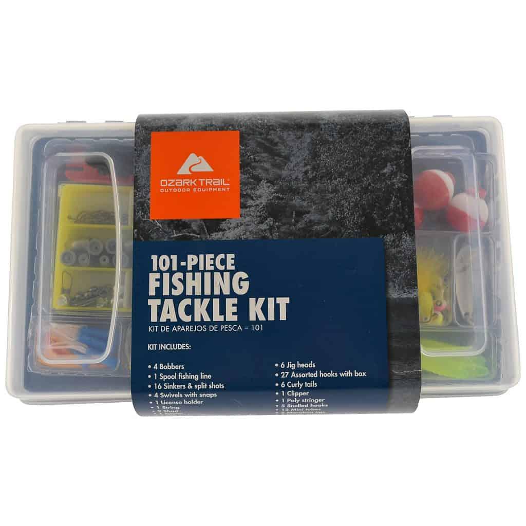 Ozark Trail 101 Piece Fishing Tackle Kit, Medium, Black / Clear thebookongonefishing