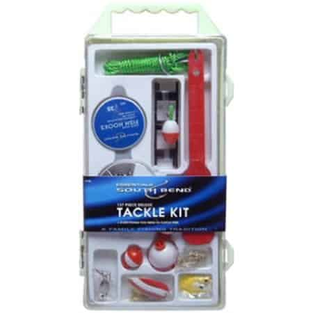 South Bend 137 Piece Deluxe Fishing Tackle Kit, Medium, Clear